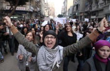 Women march Egypt
