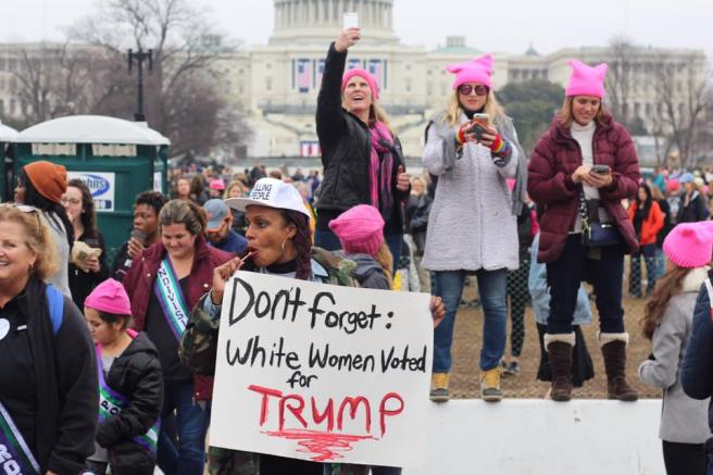 Women march mixed
